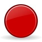 Vector graphics of red record button with a shadow