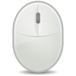 Old cordless mouse vector graphics