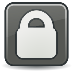Vector clip art of grayscale security icon