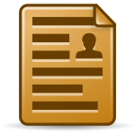 Brown document icon