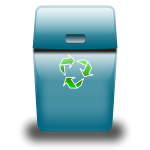 Eco blue recycle bin icon vector illustration