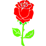 Rose drawing image