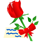 Rose with ribbon