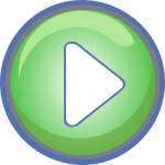 Vector clip art of blue and green play button