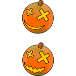 Color Halloween pumpkins vector image