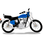 Royal motorcycle vector