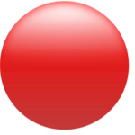 Simple Glossy Circle Button Red