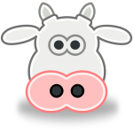 Vector image of cow's head