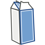 Vector image of milk in carton