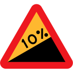10% downward gradient from the right side vector image