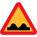 Traffic sign for a speed bump