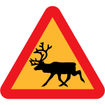 Wild animal traffic sign vector clip art