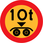 10 ton payload vector road sign