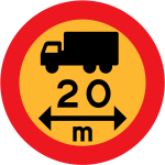 20m truck sign vector image