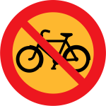 No bicycles road sign vector illustration