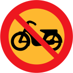 No motorcycles vector traffic sign