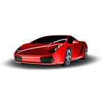 Red Lamborghini vector art