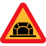 Tunnel vector road sign
