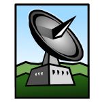 Ground tracking station vector clip art