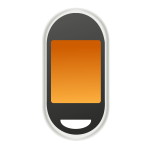 Touch screen cellphone vector icon