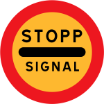 Stopp signal vector road sign