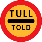 Tull told vector road sign