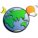 Cartoon vector clip art of Aussie earth