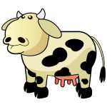 Vector image of chunky cartoon cow