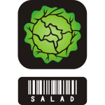Salad icon vector illustration