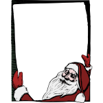 Santa holding a noticeboard color vector image
