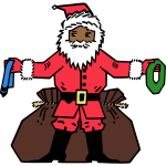 Santa giving presents image