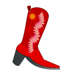 Red cowboy boot vector image