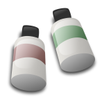 Bottles of dye ink