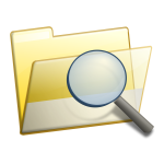 Folder search icon vector image