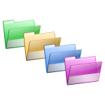 Folders selection vector image