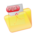 Save as PDF icon vector clip art