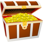 Treasure chest vector graphics