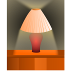 Shaded lamp