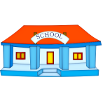 School building vector illustration