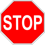 Vector clip art of simple red stop roadsign