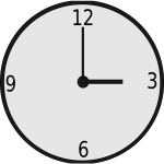Round clock vector drawing