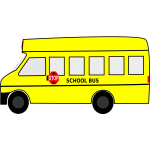 Yellow school bus vector graphics