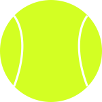 Tennis ball vector drawing