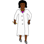 African-american female scientist vector image
