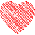 Scribbled heart vector image