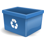 Vector drawing of blue box for depositing recycling items