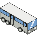 Isometric bus vector illustration