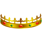 Vector clip art of a King's crown
