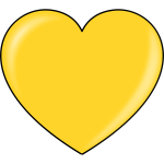 Vector illustration of gold heart