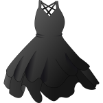 Black dress vector image